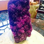 Massive Amethyst crystal in their gift shop
