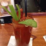 Best bloody jane as they call it. Comes hand spiced with avocado and a piece of bacon.