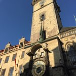 The famous clock in the old square