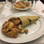 Frittura di pollo e carciofi