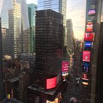 View from room of Times Square