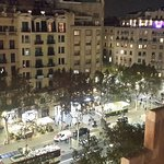 View of the street from Casa Batllo