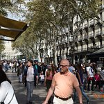 Picture of the Ramblas right outside the hotel