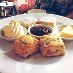 Beautifully moist rosewater-scented & savory scones (spinach, feta sundried tomato)
