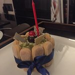 Surprise b-day cake waiting for me in the room at the end of the day