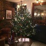 xmas decorations inside pub