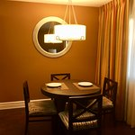 Dining area off kitchen in 1 bedroom suite