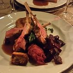 The very good lamb cut at the table.