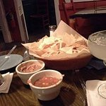 yummy drinks and tortilla dips