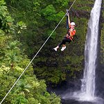 Zipline over a 250 ft waterfall!