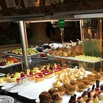 Buffet of desserts at specialty restaurant