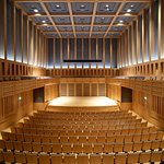 A view of the double cube shape of the hall - perfect for acoustics.