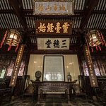 The first small temple you'll see when entering the Yu Garden