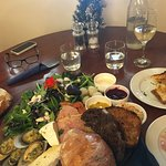 """The amazing """"Kinloch platter for two"""" - with GF bread on the side"""