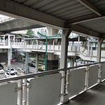 Walk via the skybridge which connect the Home Pro to the BTS Phloen Chit