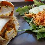 Wrap poulet potiron champignon