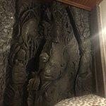 Original stone carvings in rooms