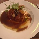 Six Hour Slow Roasted Belly of Pork with Sea-Salt Crackling, Cider Apple Sauce and Veal and Port