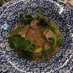 Plato fuerte, plato típico de Oaxaca con maíz azul.
