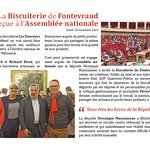 La Biscuiterie artisanale de Fontevraud reçue à l'assemblée nationale pour présenter ses macaron