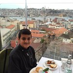 Delicious food and nice view.