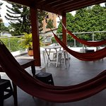hammocks on the balcony