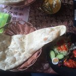 Tandoori chicken and Naan