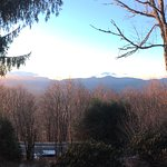 view facing sugar mountain from porch