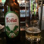 National beer of Nicaragua at the Hilton bar
