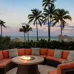 Day or night, relax by our firepits.