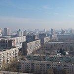 Вид на город из окна номера