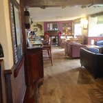 The Bar - there's also table seating for diners further back and a beer garden