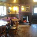 There's table seating in the bar, and a lovely warm fire too! We loved this place.