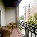 Private balcony overlooking Rogers Park community.