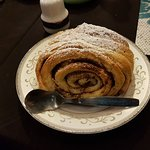Largest cinnamonroll in Thailand, despite its size I ate every single crum after having a dinner
