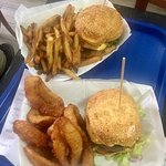 Good burger, great fries and onion rings. Ordered right on and it was really under. If you don't