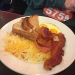 #3 Two eggs with hashbrowns, bacon and toast