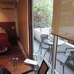 vista balcon y dormitorio