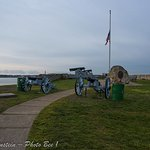 Cannons at the foirt