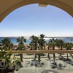 A view of the Red Sea from the room.