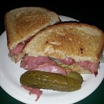 Reuben on Rye with Dill pickle