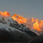 Sunrise on Kanchenjunga, taken from Goecha La
