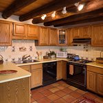 The Pinon Casita has a large kitchen, perfect for preparing family meals.