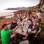 Dinner on the coast on our Great Lost Coast Adventure.