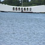 The Pearl Harbor monument is just a short boat ride out.