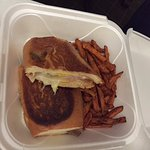 Cubano with Sweet Potato Fries