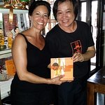Me with the wonderful Pum and an autographed copy of her cookbook!
