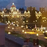 The Parliament Buildings at Christmas.