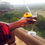 Enjoying my cocktail after a good game drive :-)