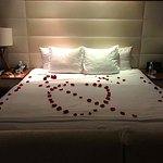 They decorated our bed!